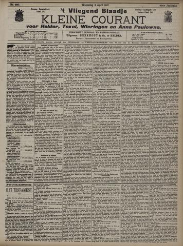 Vliegend blaadje : nieuws- en advertentiebode voor Den Helder 1907-04-03