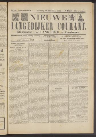 Nieuwe Langedijker Courant 1923-09-29