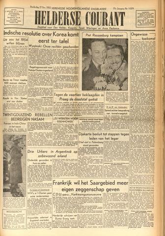 Heldersche Courant 1952-11-27