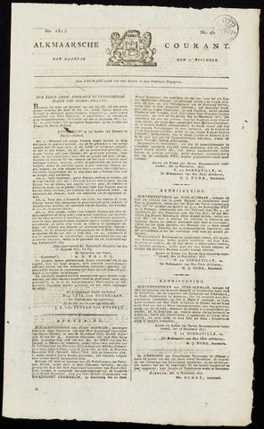 Alkmaarsche Courant 1817-11-17