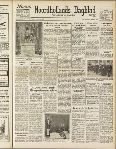 Nieuw Noordhollandsch Dagblad : voor Alkmaar en omgeving 1947-11-08