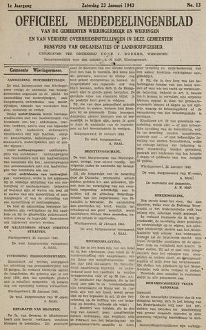 Mededeelingenblad Wieringermeer en Wieringen 1943-01-23