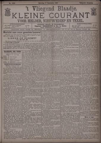 Vliegend blaadje : nieuws- en advertentiebode voor Den Helder 1887-09-17