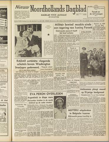 Nieuw Noordhollandsch Dagblad : voor Alkmaar en omgeving 1952-07-28