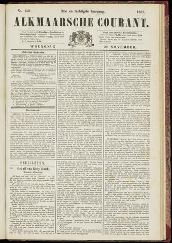 Alkmaarsche Courant 1881-11-30