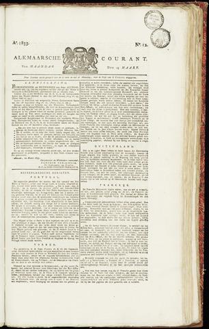 Alkmaarsche Courant 1833-03-25