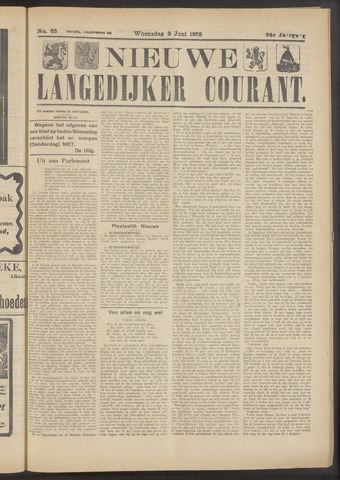 Nieuwe Langedijker Courant 1925-06-03