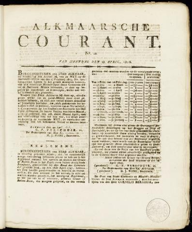 Alkmaarsche Courant 1816-04-29