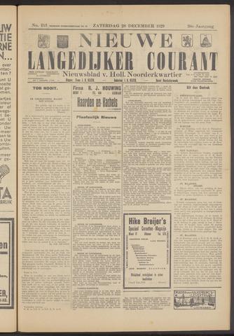 Nieuwe Langedijker Courant 1929-12-28