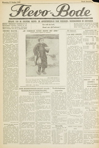 Flevo-bode: nieuwsblad voor Wieringen-Wieringermeer 1948-10-27