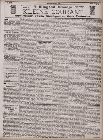 Vliegend blaadje : nieuws- en advertentiebode voor Den Helder 1903-04-01
