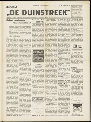De Duinstreek 1954-08-20