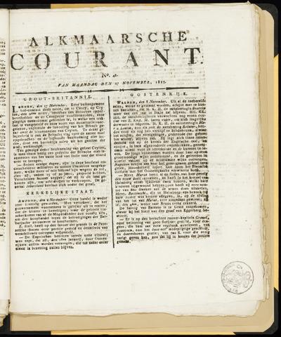 Alkmaarsche Courant 1815-11-27