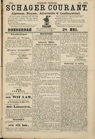 Schager Courant 1874-05-28