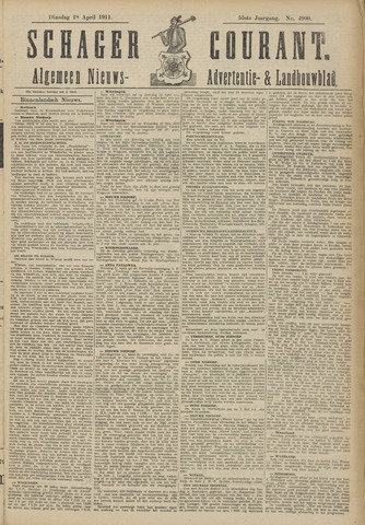 Schager Courant 1911-04-18