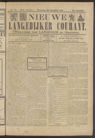 Nieuwe Langedijker Courant 1920-09-22