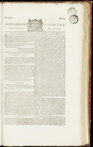 Alkmaarsche Courant 1833-04-01