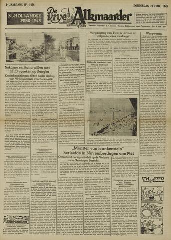 De Vrije Alkmaarder 1949-02-10