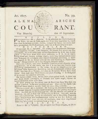 Alkmaarsche Courant 1807-09-28