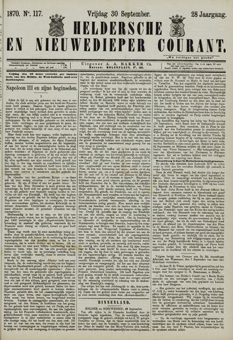 Heldersche en Nieuwedieper Courant 1870-09-30