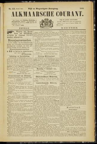 Alkmaarsche Courant 1893-12-24