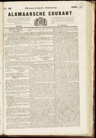Alkmaarsche Courant 1865-10-15