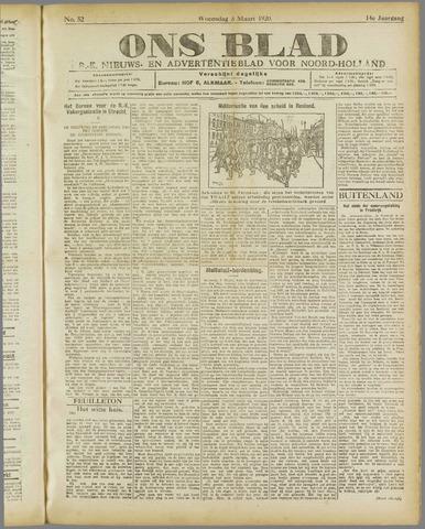 Ons Blad : katholiek nieuwsblad voor N-H 1920-03-03