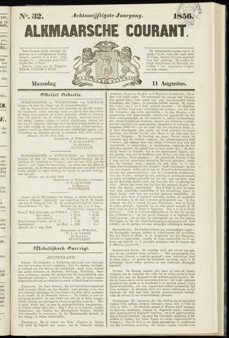 Alkmaarsche Courant 1856-08-11