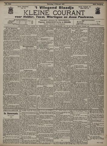 Vliegend blaadje : nieuws- en advertentiebode voor Den Helder 1907-02-09