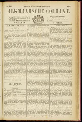 Alkmaarsche Courant 1896-11-04