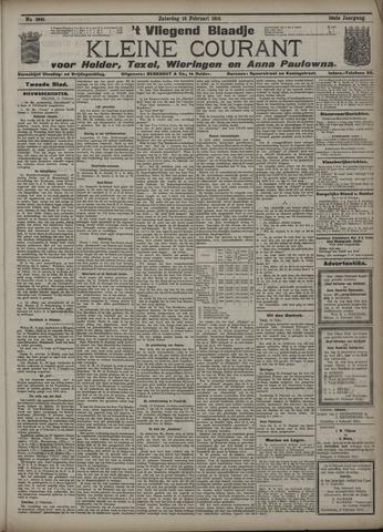 Vliegend blaadje : nieuws- en advertentiebode voor Den Helder 1910-02-12