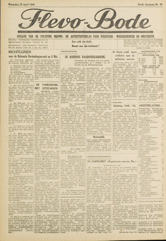Flevo-bode: nieuwsblad voor Wieringen-Wieringermeer 1948-04-28