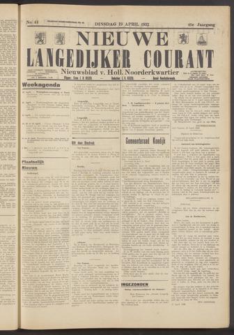 Nieuwe Langedijker Courant 1932-04-19