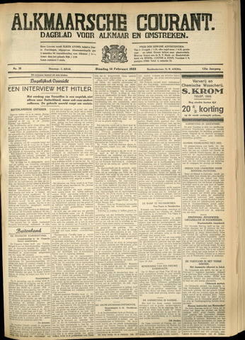 Alkmaarsche Courant 1933-02-14