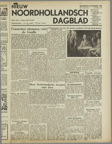 Nieuw Noordhollandsch Dagblad : voor Alkmaar en omgeving 1945-10-22