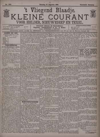 Vliegend blaadje : nieuws- en advertentiebode voor Den Helder 1886-08-21