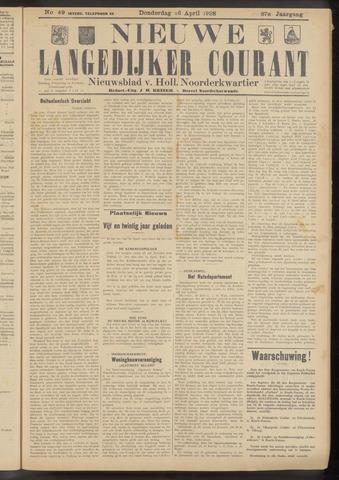 Nieuwe Langedijker Courant 1928-04-26