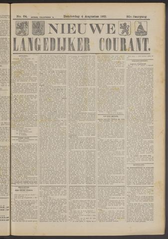Nieuwe Langedijker Courant 1921-08-04