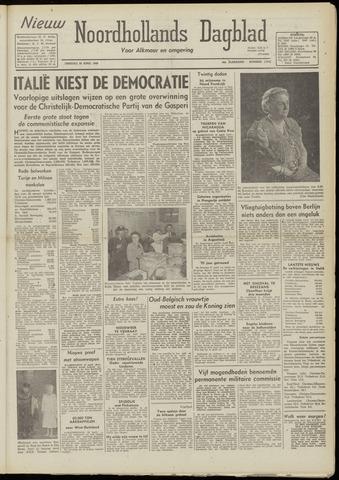 Nieuw Noordhollandsch Dagblad : voor Alkmaar en omgeving 1948-04-20