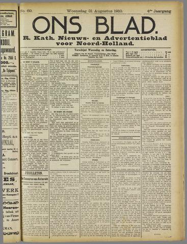 Ons Blad : katholiek nieuwsblad voor N-H 1910-08-31