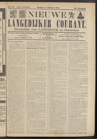 Nieuwe Langedijker Courant 1925-02-17