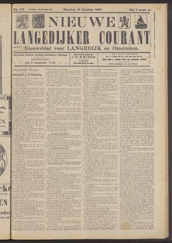 Nieuwe Langedijker Courant 1925-10-13