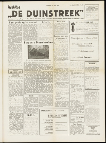 De Duinstreek 1957-07-19
