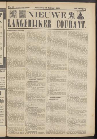 Nieuwe Langedijker Courant 1925-02-12