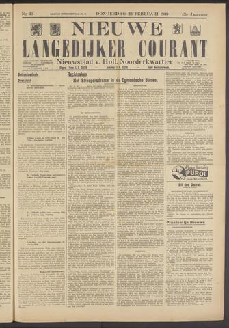 Nieuwe Langedijker Courant 1933-02-23
