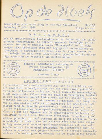 Op De Hoek, weekblad voor Akersloot 1956-07-07