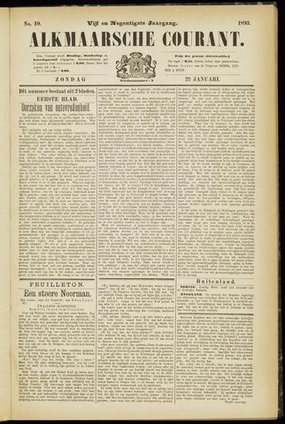 Alkmaarsche Courant 1893-01-22