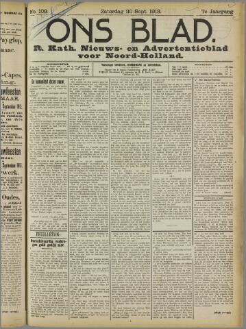 Ons Blad : katholiek nieuwsblad voor N-H 1913-09-20