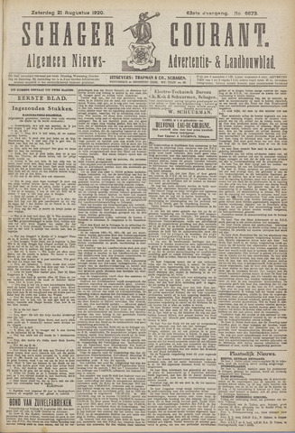 Schager Courant 1920-08-21