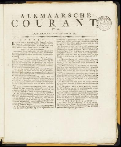 Alkmaarsche Courant 1814-10-17